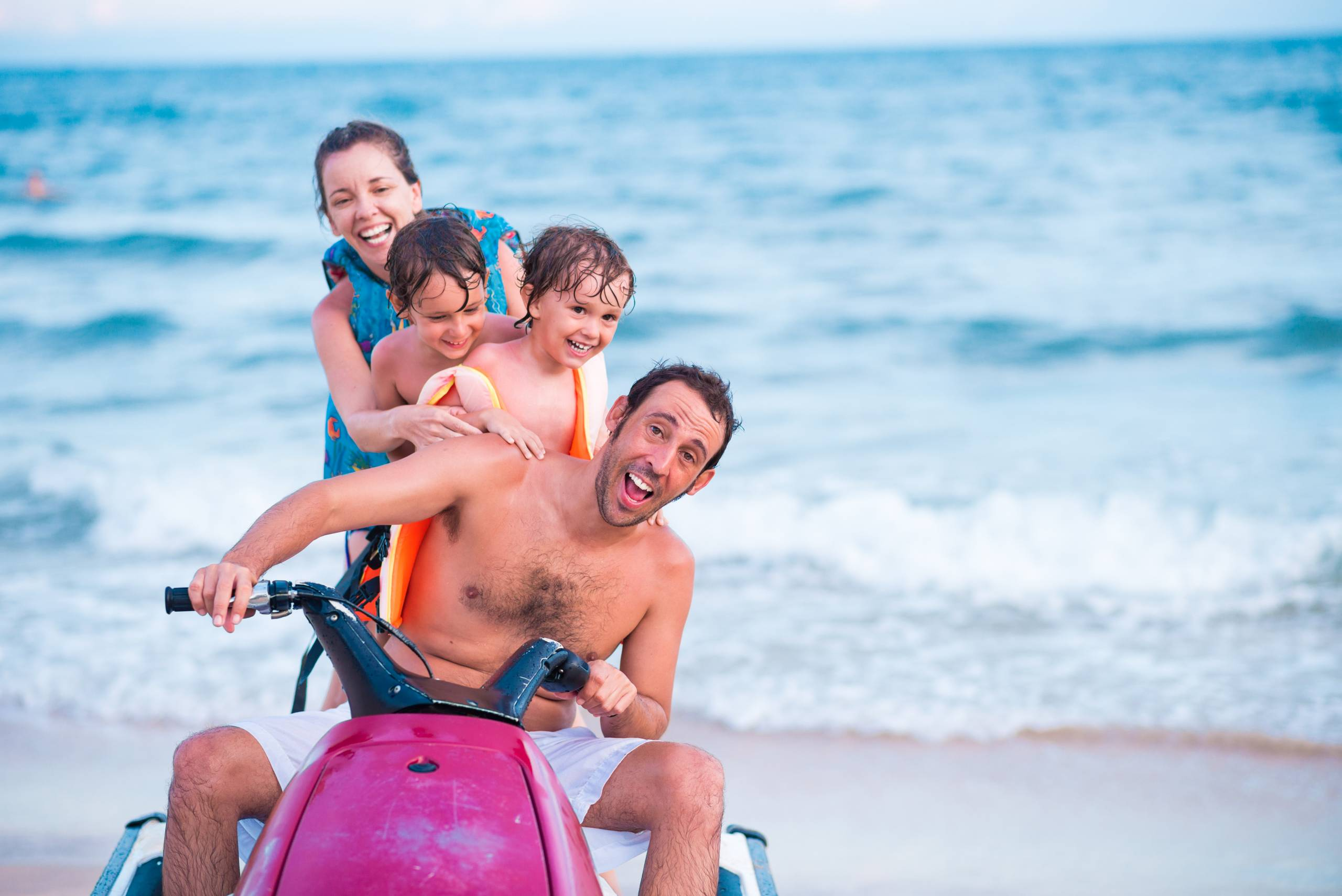 Family at Liberty Jet Ski Club